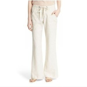 Joie Natural Irreplaceable Wide Leg Linen Pants